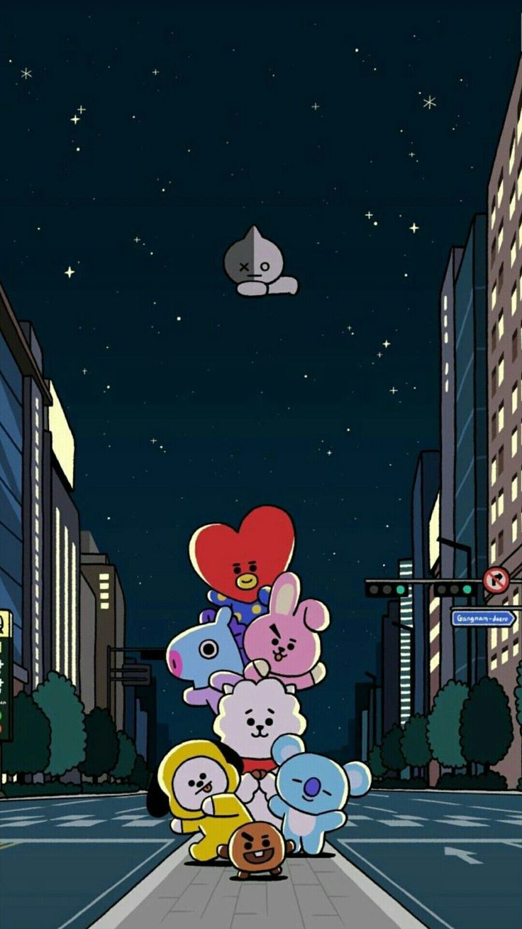 Most Great Bts Anime Wallpaper IPhone BT21 in 2020 Cute