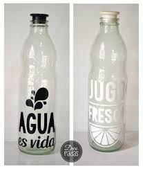 Resultado de imagen para vinilos decorativos para botellas de agua