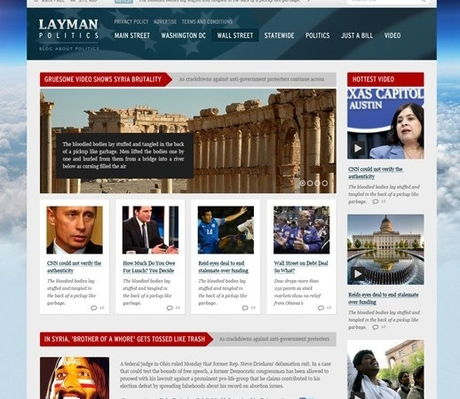 News and Politics Web Design Free PSD Template