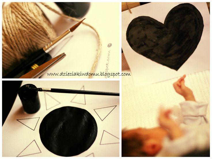 czarno-białe obrazki dla niemowlaka www.dzieciakiwdomu.blogspot.com