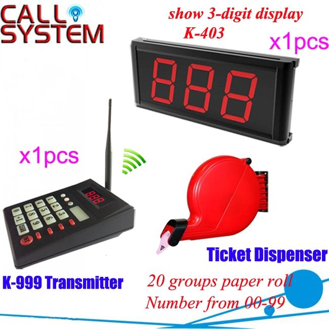 (254.50$)  Buy here  - Electronic wireless queue management system 1 transmiter 1 display receiver 1 ticket dispenser free shipping