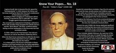 Know Your Popes ~ Pius XII ~ I actually remember this one. What a prick.  Jews should hate him even more than I do. ih