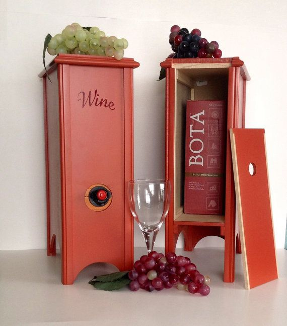 Boxed wine holders set of 2 Merlot Red.FREE by LuckyDogWoodworking $120.00 & 7 best Boxed Wine Holder images on Pinterest | Wine holders Wine ... Aboutintivar.Com