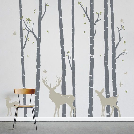 Best 25 tree forest ideas on pinterest bedroom feature for Birch trees wallpaper mural