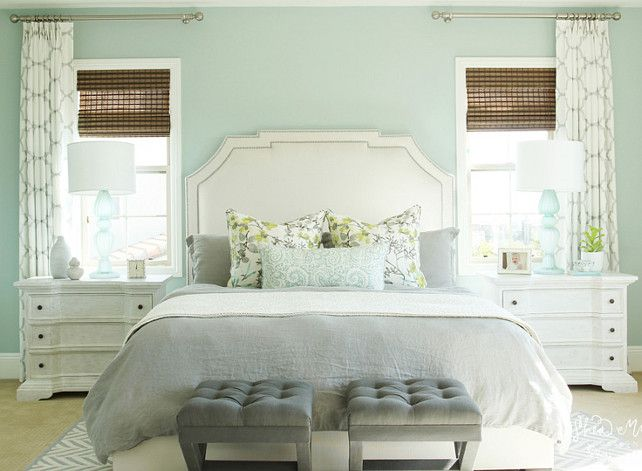 Seafoam Green Bedroom Paint Color. Bedroom. Seafoam Bedroom Paint Color. #SeafoamBedroom #PaintColor Studio McGee.