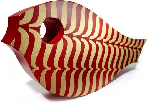 Typographic bird | House IndustriesBirdhouses, Wooden Koi, Things Design, Industrial Objet, Modern Style, Bird Houses, Fish Design, Objet D Art, House Industrial