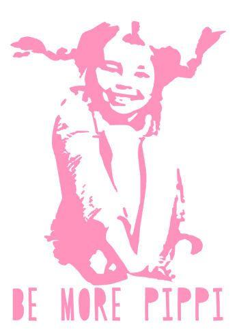 Vinyl Wall Decal werden weitere Pippi Zitat Pippi von PaperCandyNL