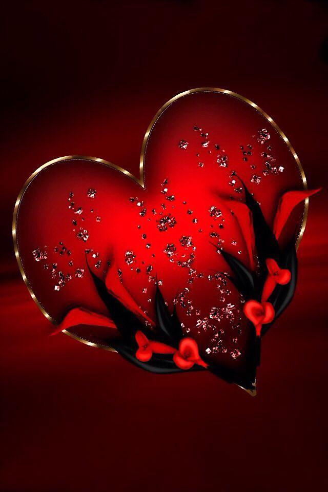 Картинки доброй ночи с сердечками