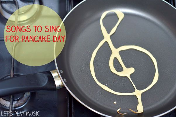 Dad would make treble clef pancakes for mom and the kids, a bass clef for himself.