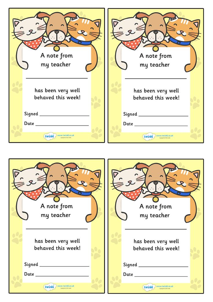 Twinkl Resources >> Note From Teacher- Well Behaved This week- Cat/Dog Theme  >> Classroom printables for Pre-School, Kindergarten, Elementary School and beyond! Teacher Notes, Awards, Cat/Dog Theme, Class Management
