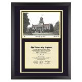 University of Iowa Diploma Frame with U of I Lithograph Art PrintBy Old School Diploma Frame Co.