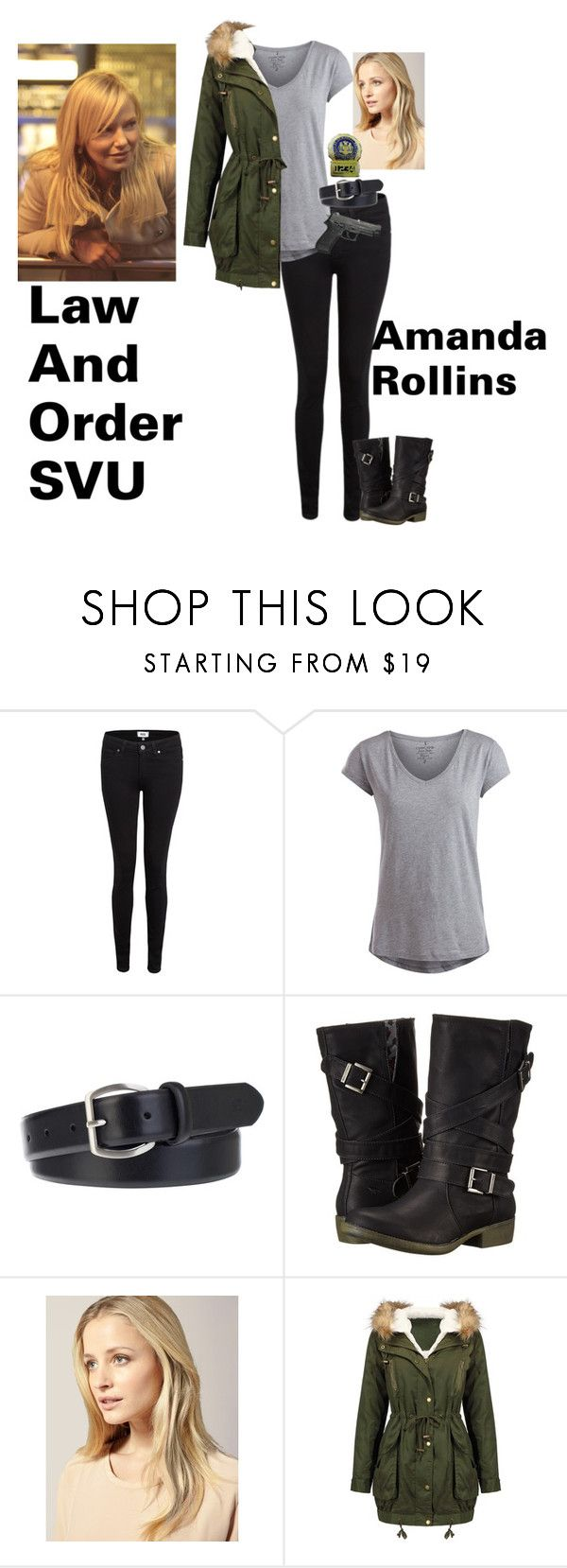 """amanda rollins"" by twdcpdgleggielinstead ❤ liked on Polyvore featuring Paige Denim, Pieces, Ben Sherman, Rocket Dog, Hershesons, lawandordersvu and amandarollins"