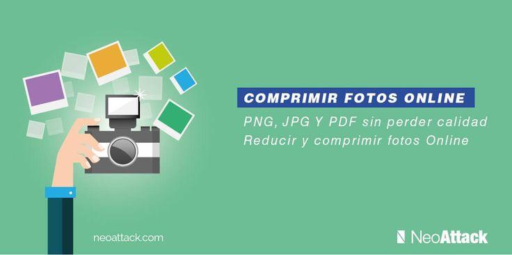 Tutorial para reducir y comprimir fotos e imágenes online sin perder calidad. Programas gratis de compresión de archivos como fotografías en PNG y JPG y PDF