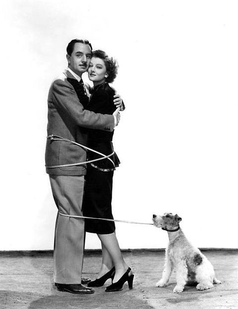 The Thin Man movies. Love Nick and Nora. William Powell, Myrna Loy and Asta -- Shadow of the Thin Man