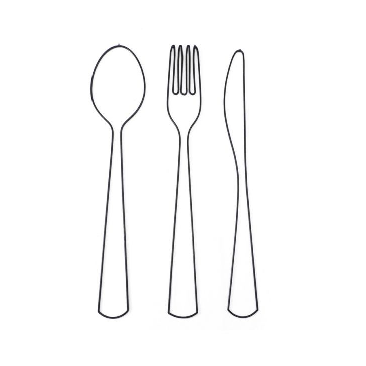 Cafe Cutlery 3Pc Wall Art Set