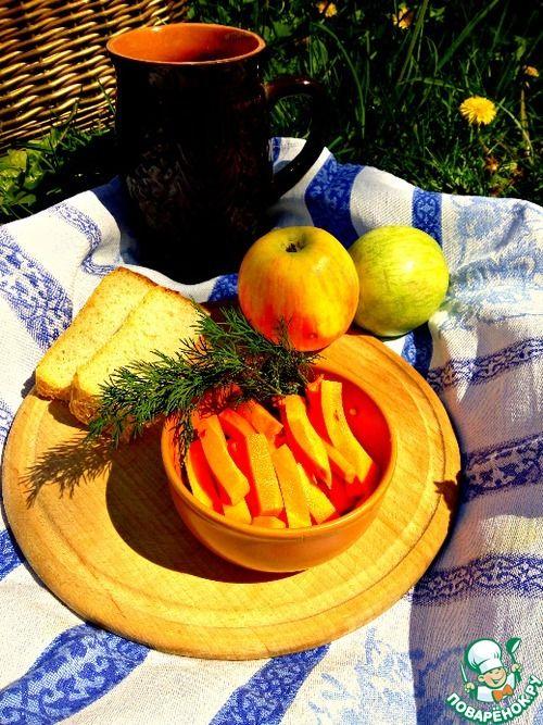 Маринованные морковные палочки - кулинарный рецепт