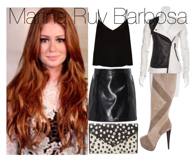 """Look Of The Day 10/03: Marina Ruy Barbosa"" by byanka-yasmim ❤ liked on Polyvore featuring Philosophy di Lorenzo Serafini, Raey, Thomas Wylde, Alice + Olivia and Marc by Marc Jacobs"