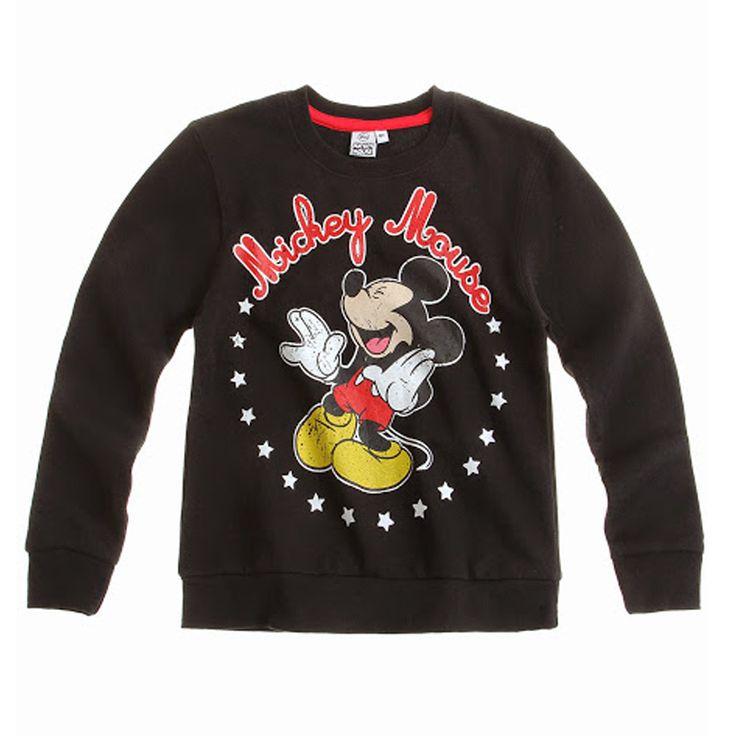 Ρούχα για αγόρια : Φούτερ για αγόρια MICKEY ΜΆΥΡΟ 17.90 E