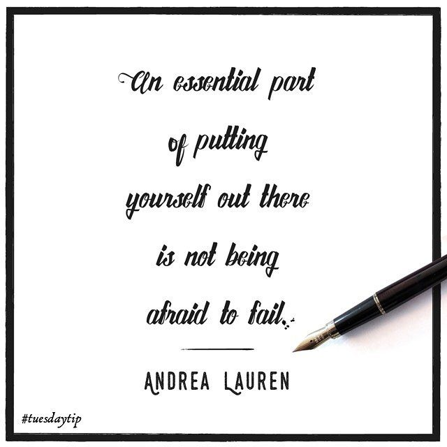 Andrea Lauren boosts our confidence with her inspirational tip #TuesdayTip #illustration #typography #lettering #illustrator #design