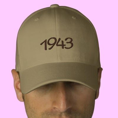 1943 Embroidered Hat Do you remember 1943?