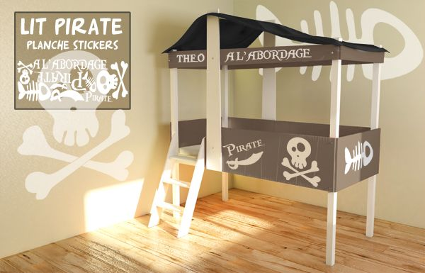 lit cabane pirate vente lit cabane pour enfants decore ta chambre chambre gar on. Black Bedroom Furniture Sets. Home Design Ideas