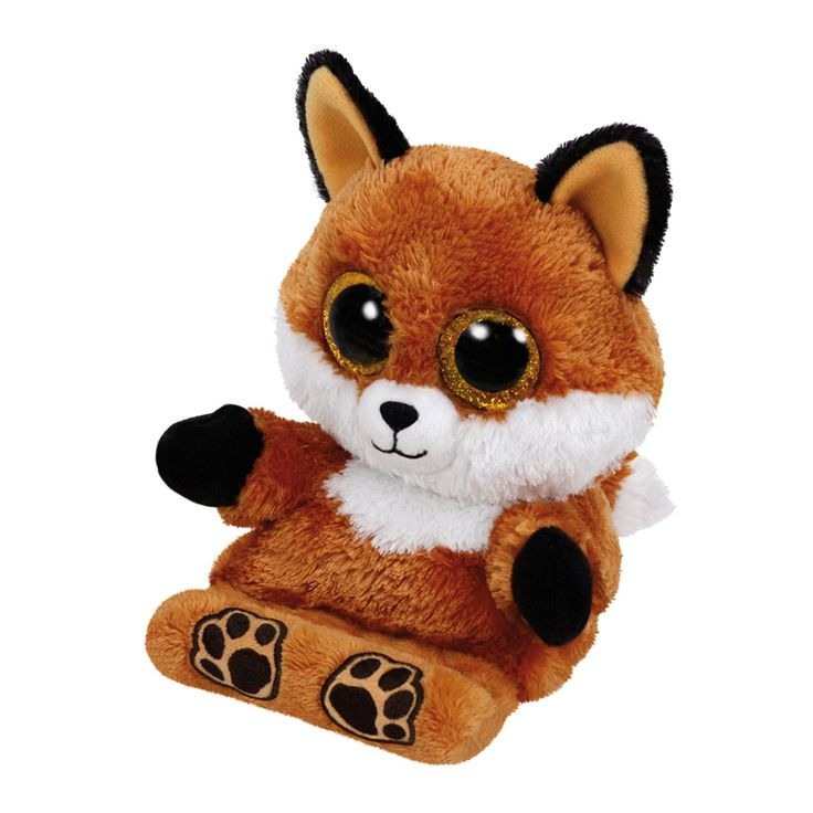 Ty Peek-a-Boo knuffel genaamd Sly. Dit schattige vosje houdt met liefde je telefoon vast. Sly heeft een zacht bruin vachtje, gele oortjes en een gouden glinstering in haar ogen. Klem je mobiel tussen haar voetjes en de Ty Peek-a-Boo blijft stevig staan, zodat jij rustig naar filmpjes of andere beelden kunt kijken. Afmeting: lengte 15 cm - Ty Peek-a-Boo Vos Telefoonhouder - Sly, 15 cm