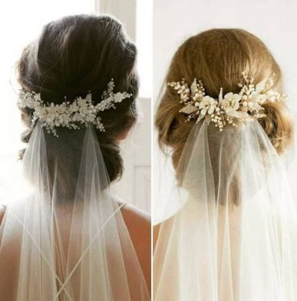 Wedding Hairstyles For Long Hair With Flowers Veil 64 Ideas For 2019