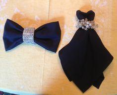Cocktail dress & Bowtie napkin folding