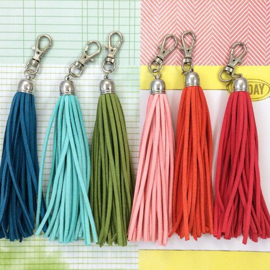 Add some colourful cheer to your planners, keys, phone, bags, etc with these easy-to-make tassels! =)