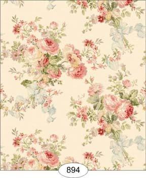 "Dollhouse Wallpaper "" Rose Floral """