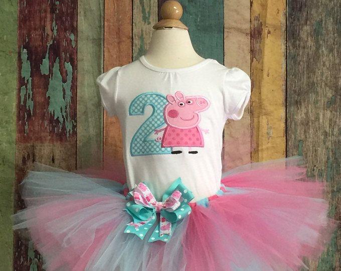 Peppa Pig cumpleaños traje-Peppa Pig-Peppa Tutu-traje de cumpleaños-cumpleaños Peppa-disfraz Peppa-tutú traje-las niñas Cumpleaños-cumpleaños Vestido