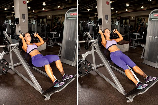 Learn how to properly do the machine hack squat to target your quads.