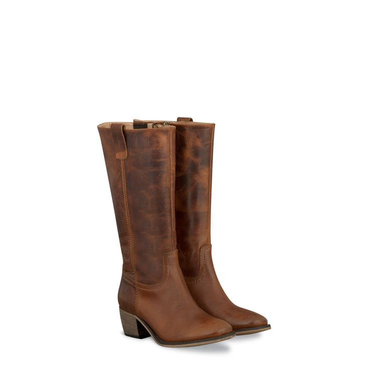 Santana Brown Fitted Mid Calf Ladies Boots | DUO...think I'll order these in black...