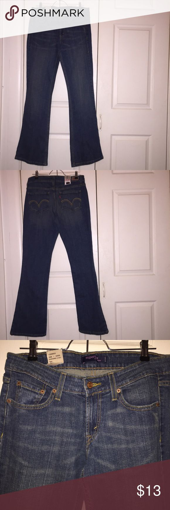 NWT LEVIS JEANS Price firm on NWT iteams no offers. boot cut levis brand new never worn. size says 7 medium juniors. will take measurements upon request. Tag says $40.00 i scribled out the tag because i had previously written my initials on the tag. Levi's Jeans Boot Cut