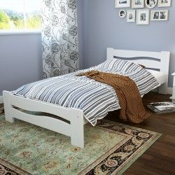 Borovicová postel Nemo 90, bílá Dřevěná borovicová postel Nemo 90, je dokonalá kombinace vysoce kvalitní borovice a výjimečného designu. Fantastická linie této postele, dodá Vašemu interiéru styl a eleganci. Povrch postele je ošetřen ekologickou barvou na vodní bázi v odstínu teplé bílé. Díky kvalitnímu zpracování je borovicová postel Nemo 90 velmi stabilní a může vám sloužit dlouhá léta. Postel je přímo ideální do dětského pokoje.