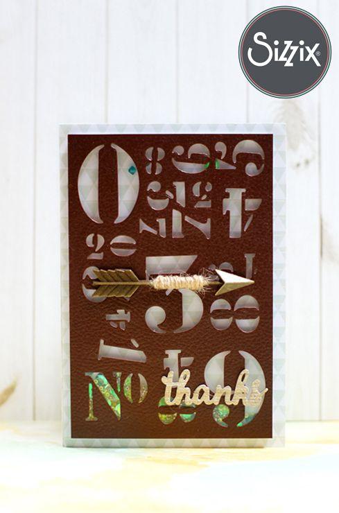 STUDIO H ART: Shaker Card using Sizzix Stencil Die