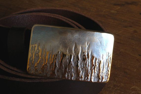 Fireman Belt Buckle  Hand Forged in Fire Canadian Signed