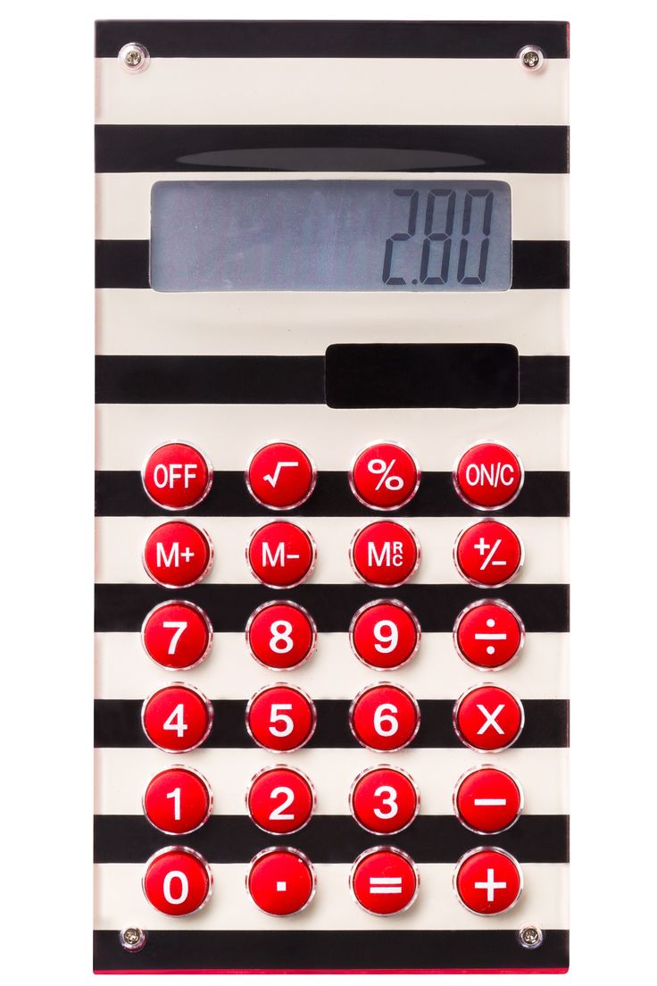 Always keep a calculator handy, especially when it looks this funky!