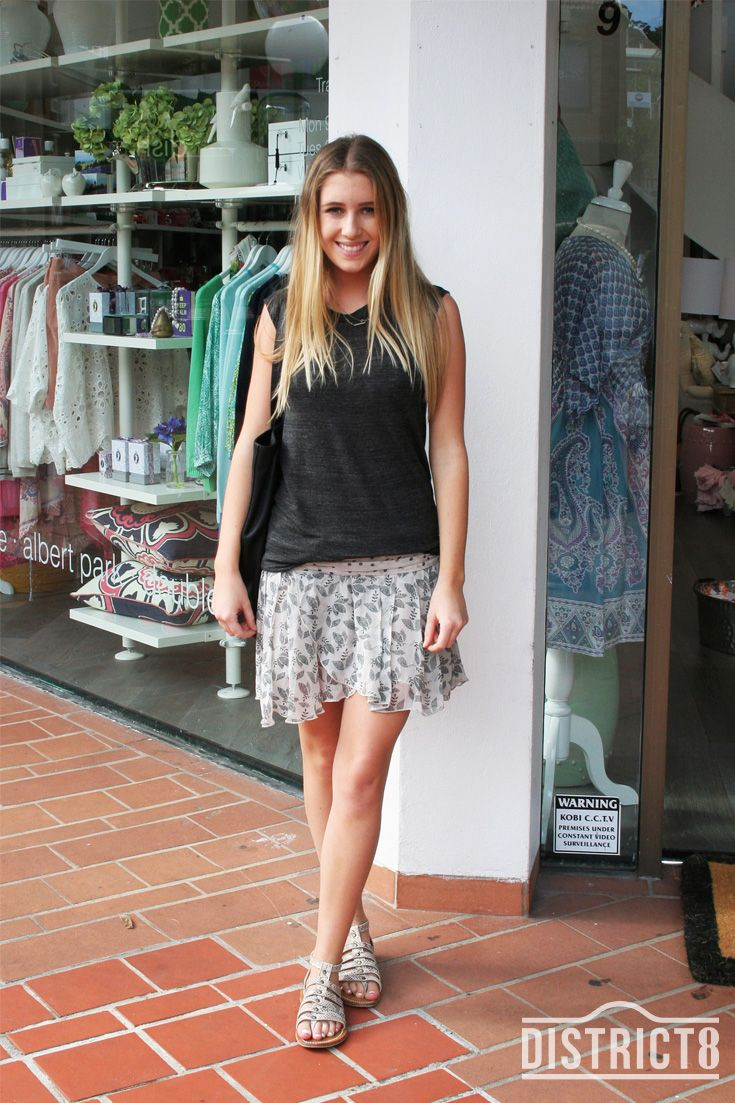 Laura. District - DOUBLE BAY, Sydney. Top - Isabel Marant, Skirt - Isabel Marant, Shoes - K Jaques, Bag - Kenzo http://district8.com/store/kenzo