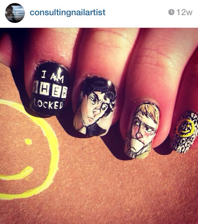 Sherlock nails<<< I want to know how in the world I didn't get this talent...