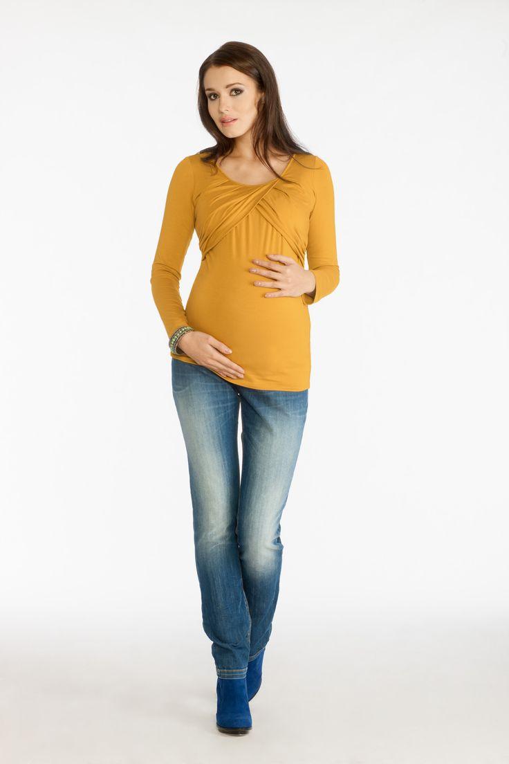 Lada blouse mustard & Avistar trousers indigo