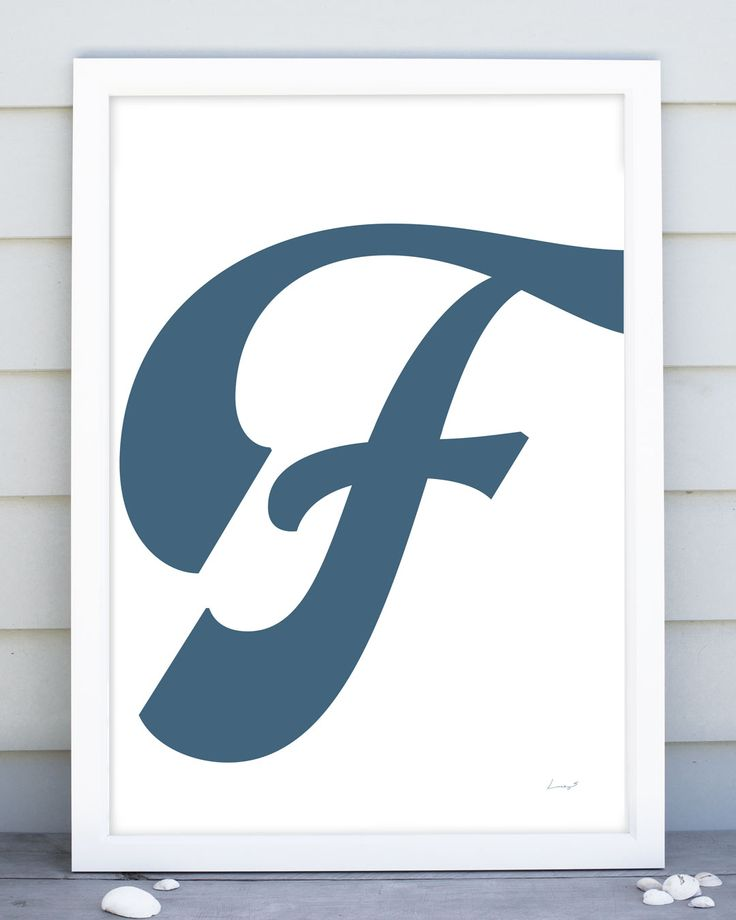 A fabulously swishy F from the 'Lettered Swish' range by Lucky 5 | posters and prints for the whole family