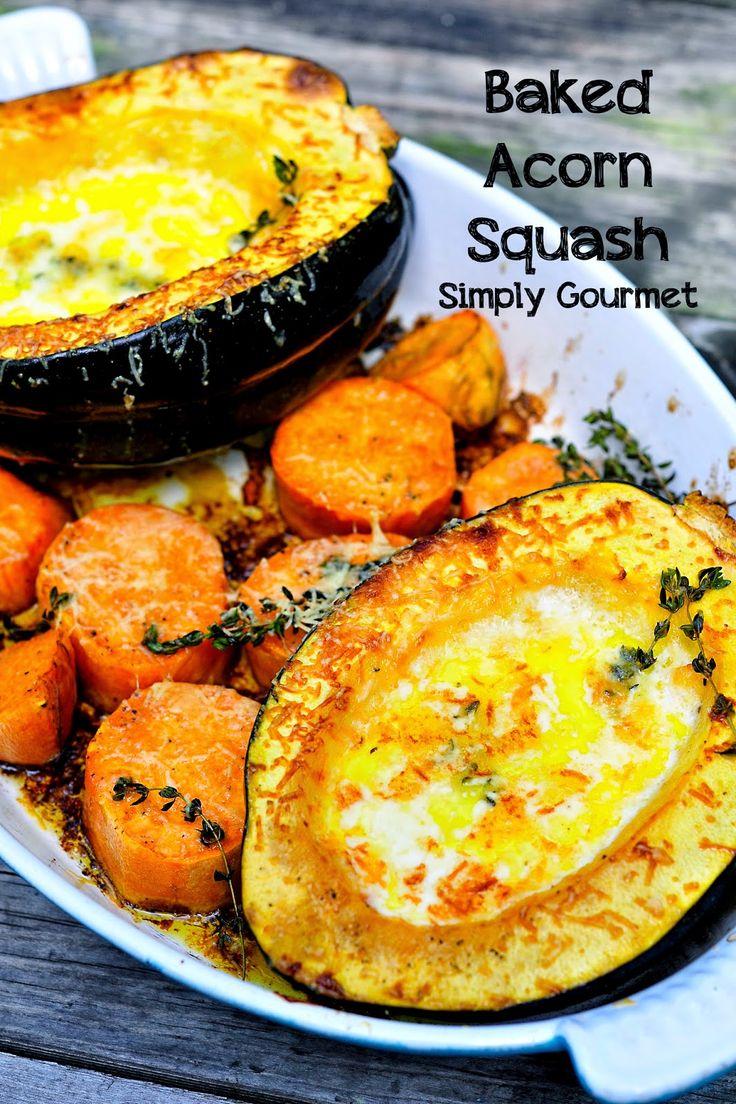 Simply Gourmet: Creamy Baked Acorn Squash #SundaySupper