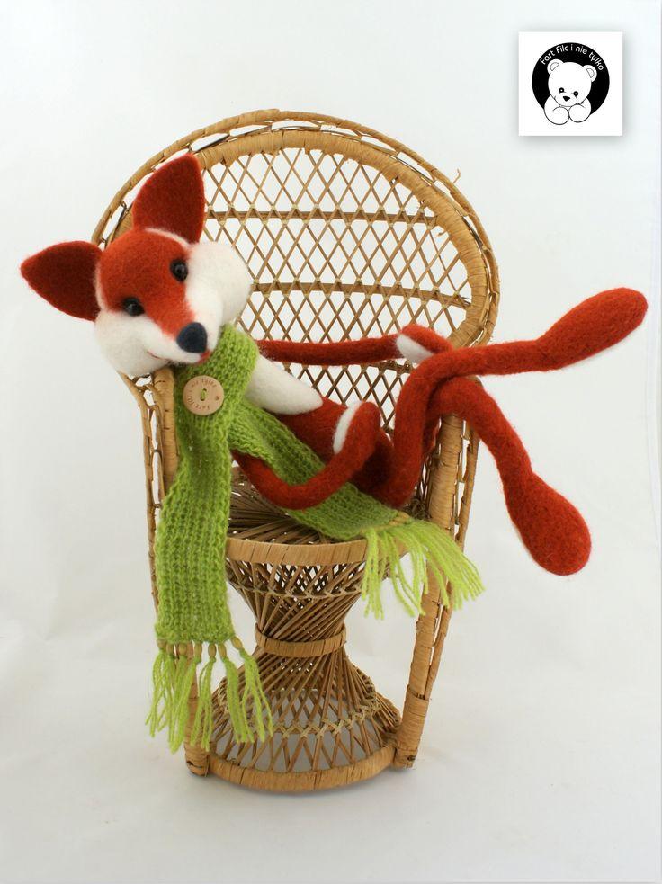 #fox #filc #polandhandmade #felt #ooak #teddybear #fartfilcinietylko #fartownemisie #toy