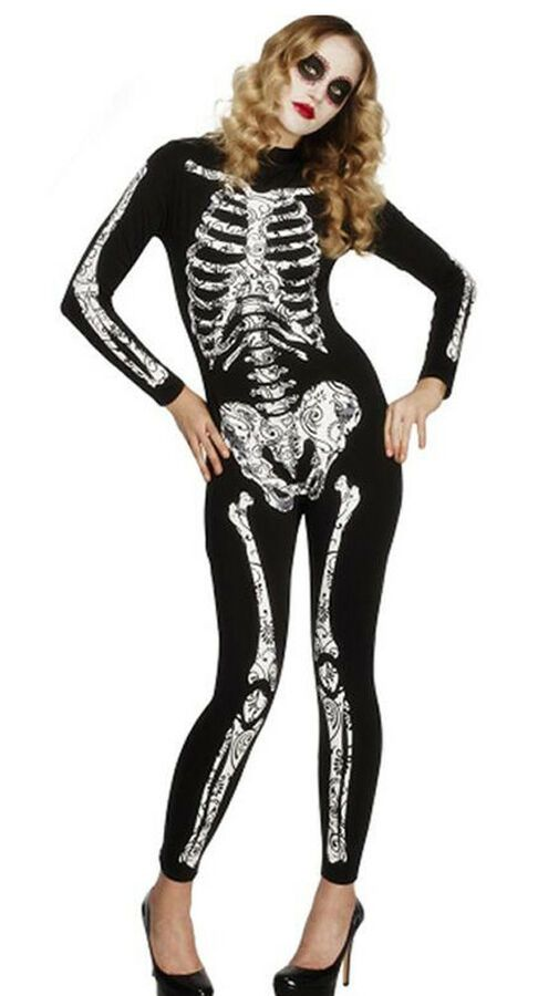 ffcc1e87b84 I-CURVES womens sexy skeleton spanish day of the dead halloween ...