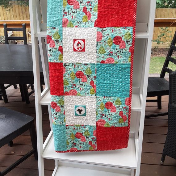 Hey, I found this really awesome Etsy listing at https://www.etsy.com/listing/270041392/little-red-riding-hood-quilt