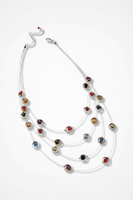 Pop of Color Illusion Necklace, Silver Multi from Coldwater Creek