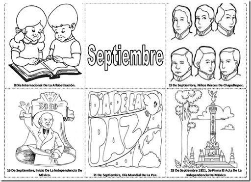 Resultado de imagen para efemerides de septiembre para colorear