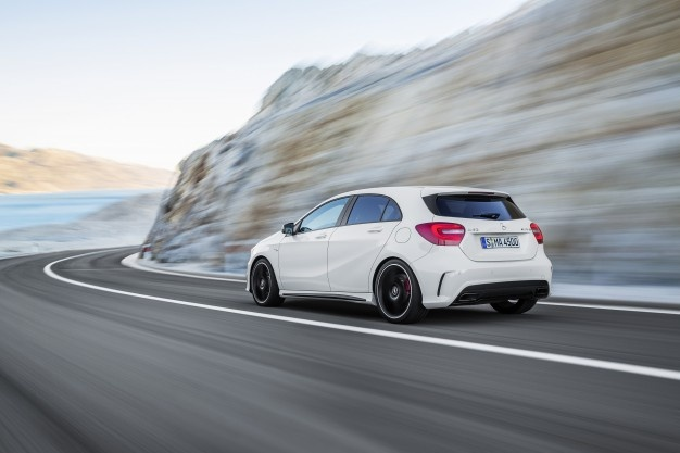 The A 45 AMG sees Mercedes-AMG embarking on a new era. For the first time in the company's history extending back over more than 45 years, Mercedes-Be. Mercedes A Class, New Mercedes, Mercedes Benz A45 Amg, Daimler Ag, Car And Driver, Car Car, Used Cars, Dream Cars, Motorcycles