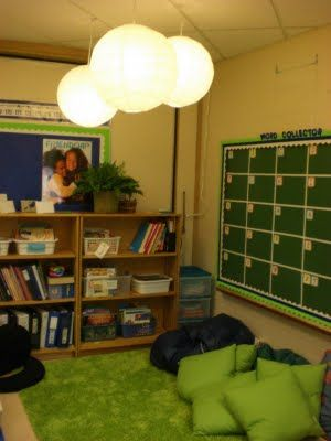 17 best images about classroom reading area on pinterest for Space themed book corner